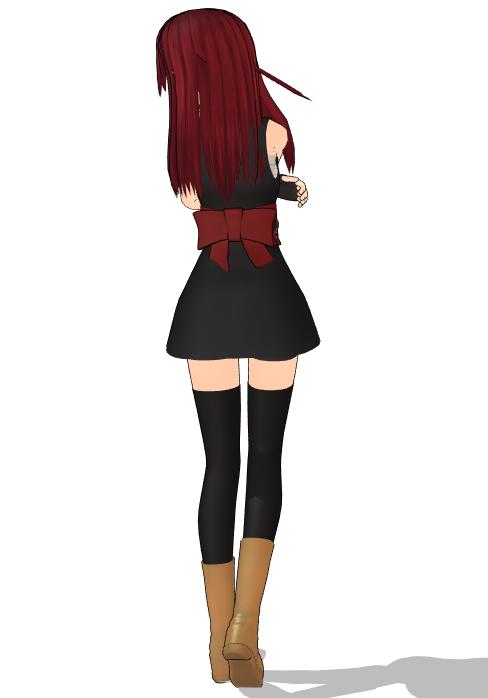 mmd人物模型制作_冷酷的刺客女孩射木颯MMD模型下载-mmd模型动作数据下载网站_小林MMD